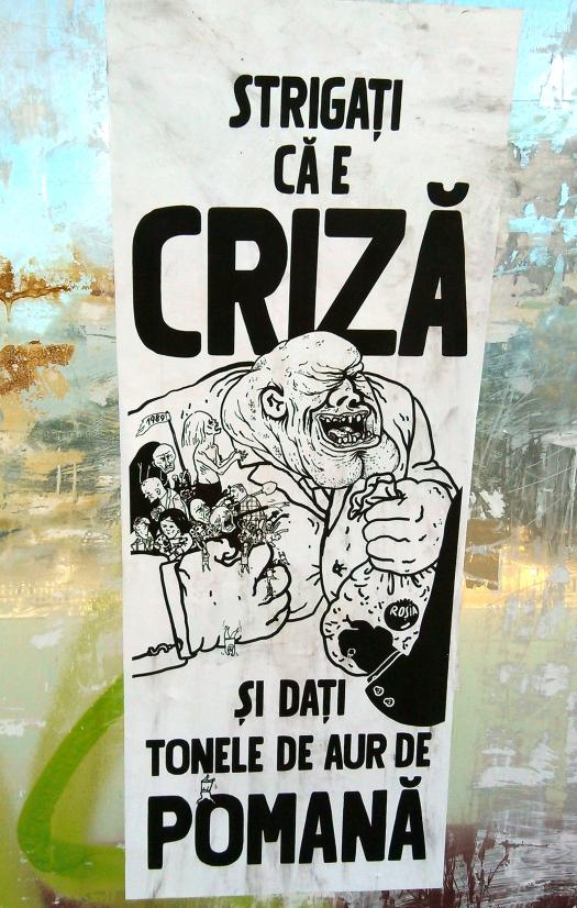 Afis pro-Rosia Montana, anti-politicieni