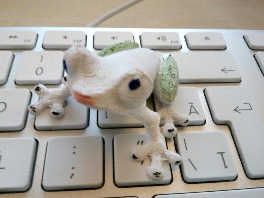 O broasca printata pe o imprimanta 3D