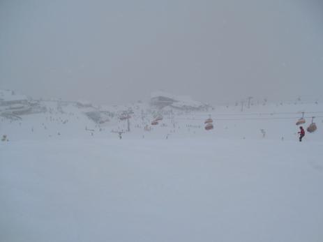 o zi cu ninsoare, dar extrem de multa lume