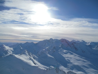 Alpii - vedere spre Italia