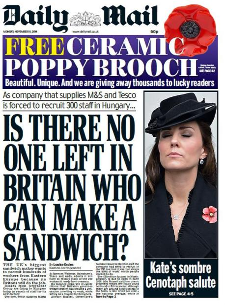 daily mail sandwich
