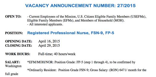salariul oferit de ambasada SUA