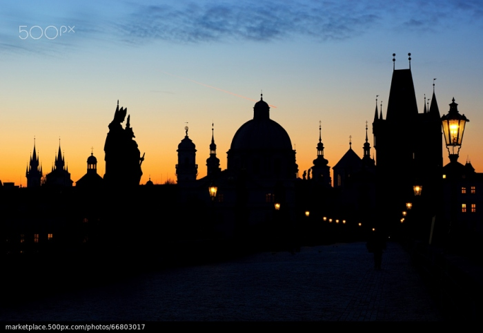 500px Photo ID: 66803017 - The arrival of a new day on the Charles Bridge