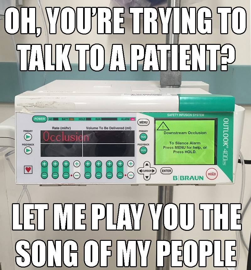 How many beeps can an IV pump beep if an IV pump could beep? Beep?