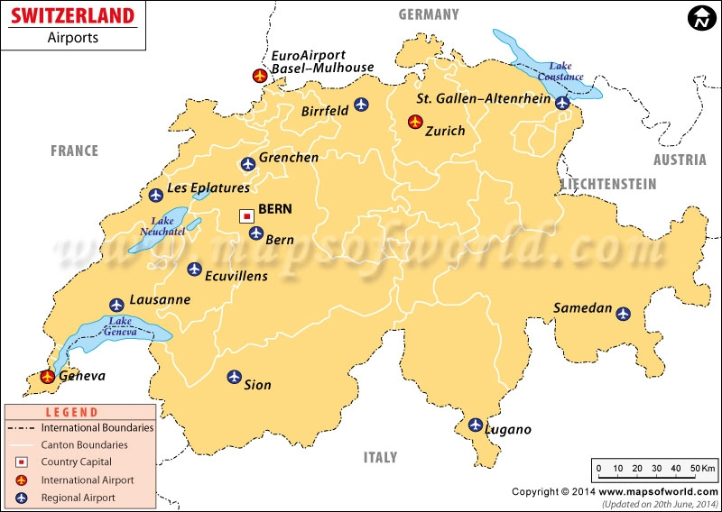 International Airport Map airports in switzerland switzerland airports map 800 X 568 pixels